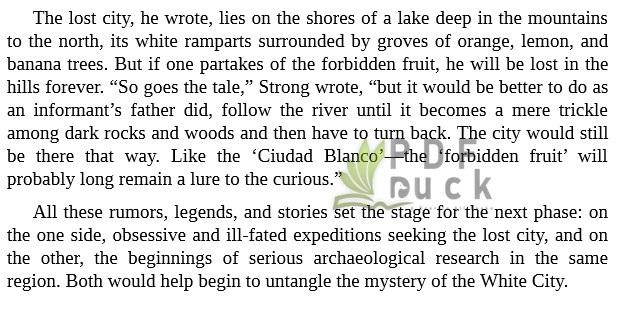 The Lost City of the Monkey God by Douglas Preston mobi