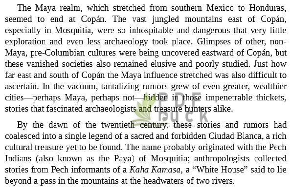 The Lost City of the Monkey God by Douglas Preston pdf