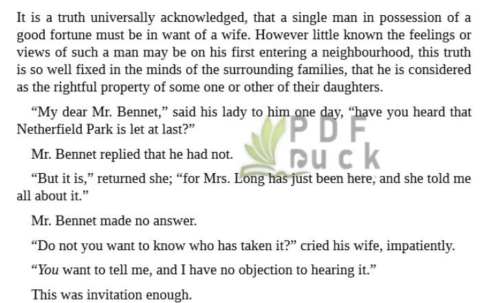 Pride and Prejudice by Jane Austen epub