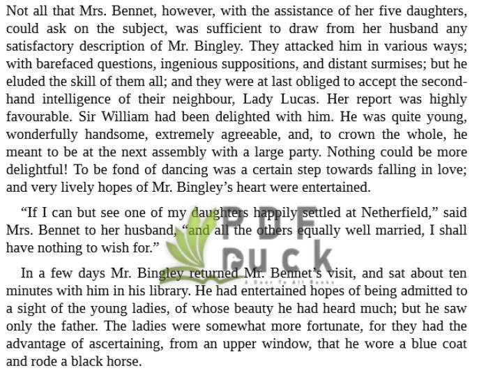 Pride and Prejudice by Jane Austen mobi