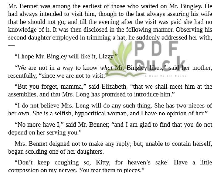 Pride and Prejudice by Jane Austen pdf