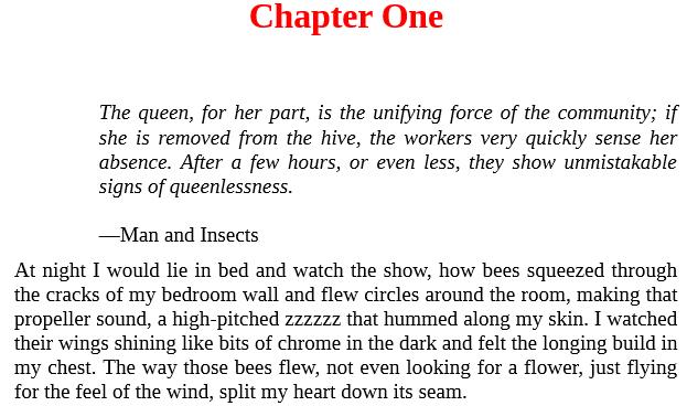 secret life of bees pdf free download