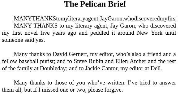 The Pelican Brief by John Grisham epub