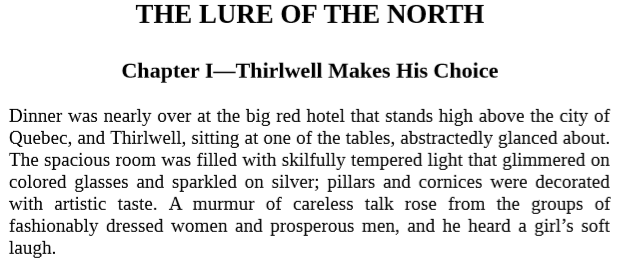 The Lure of the North By Harold Bindloss