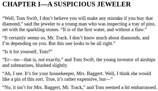Tom Swift Among the Diamond Makers By Howard R. Garis