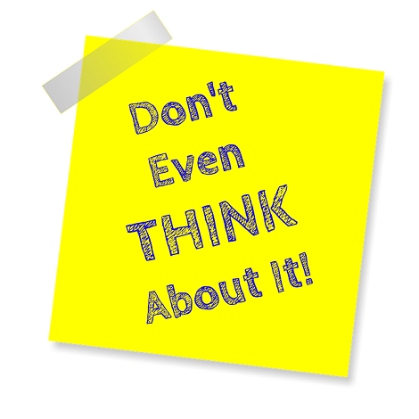 Don't Think About It by William W. Stuart